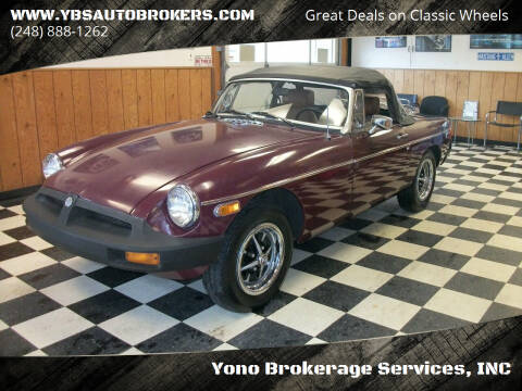 1980 MG B for sale at Yono Brokerage Services, INC in Farmington MI