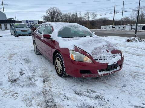 2007 Honda Accord for sale at ARG Auto Sales in Jackson MI