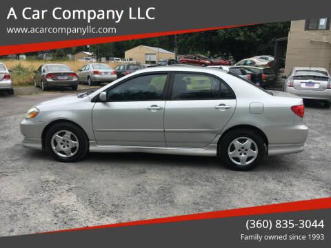 2004 Toyota Corolla for sale at A Car Company LLC in Washougal WA