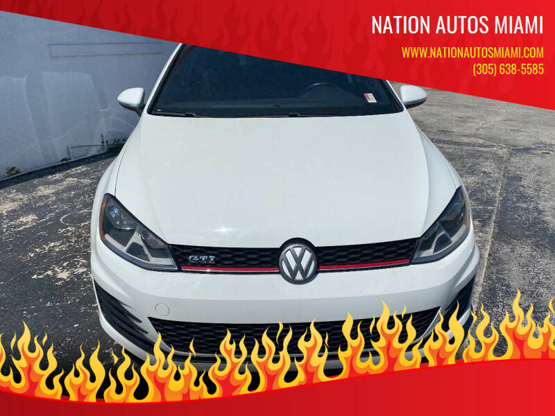 2016 Volkswagen Golf GTI for sale at Nation Autos Miami in Hialeah FL