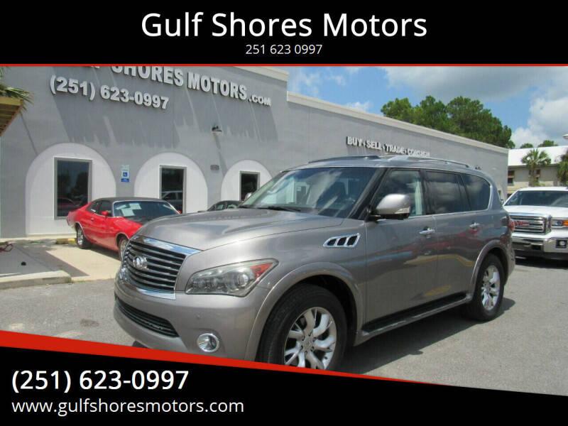 2012 Infiniti QX56 for sale at Gulf Shores Motors in Gulf Shores AL