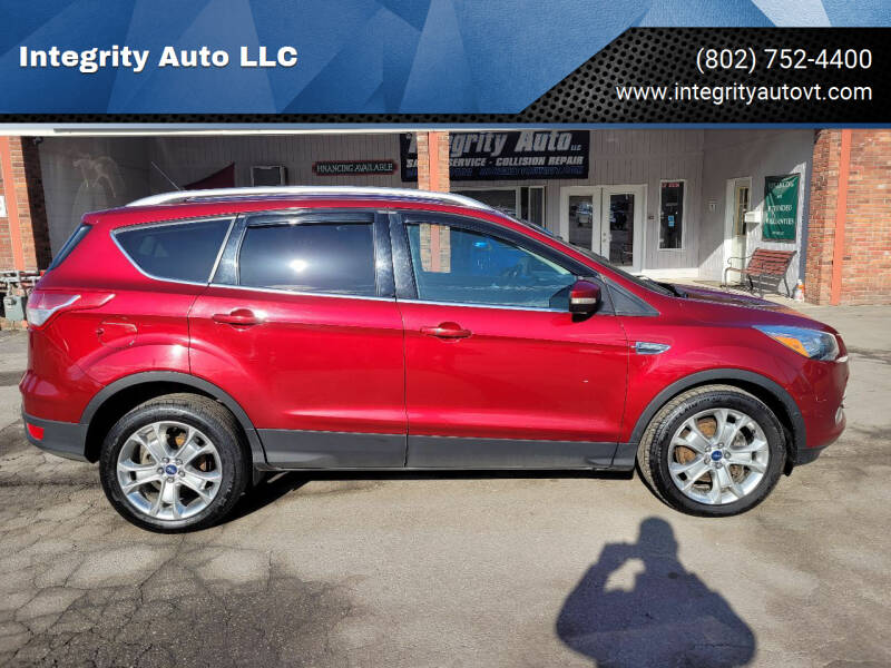 2014 Ford Escape for sale at Integrity Auto LLC - Integrity Auto 2.0 in St. Albans VT