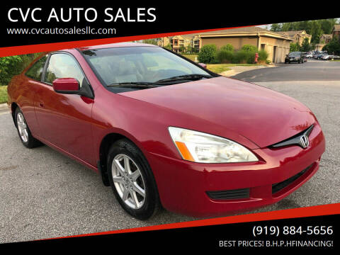 2003 Honda Accord for sale at CVC AUTO SALES in Durham NC