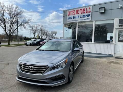 2016 Hyundai Sonata for sale at United Motors LLC in Saint Francis WI