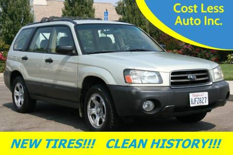 2005 Subaru Forester for sale at Cost Less Auto Inc. in Rocklin CA