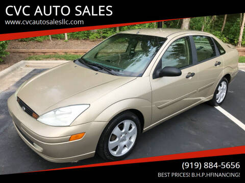 2002 Ford Focus for sale at CVC AUTO SALES in Durham NC