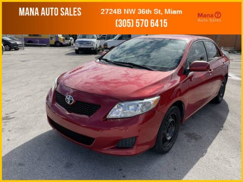 2009 Toyota Corolla for sale at MANA AUTO SALES in Miami FL