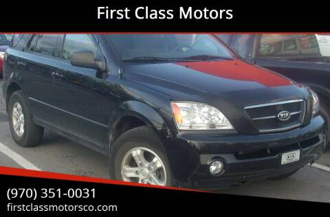 2009 Kia Sorento for sale at First Class Motors in Greeley CO
