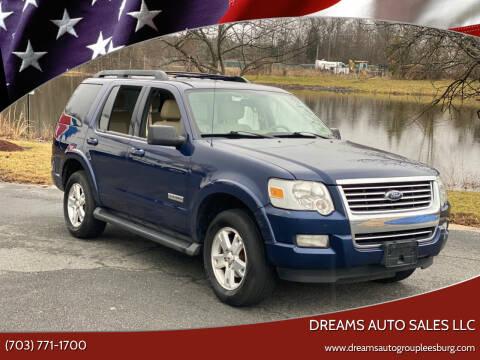 2007 Ford Explorer for sale at Dreams Auto Sales LLC in Leesburg VA