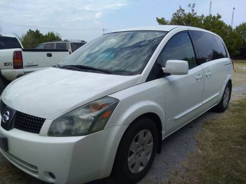 2004 Nissan Quest for sale at C & R Auto Sales in Bowlegs OK