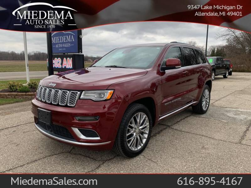2018 Jeep Grand Cherokee for sale at Miedema Auto Sales in Allendale MI