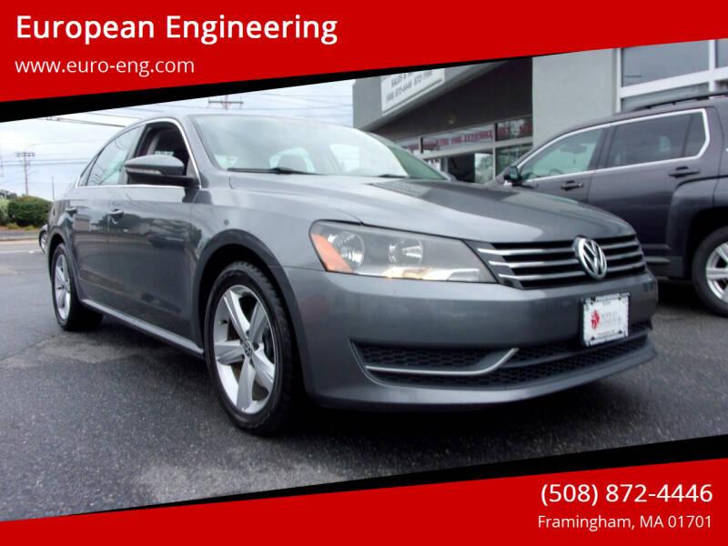 2012 Volkswagen Passat for sale at European Engineering in Framingham MA