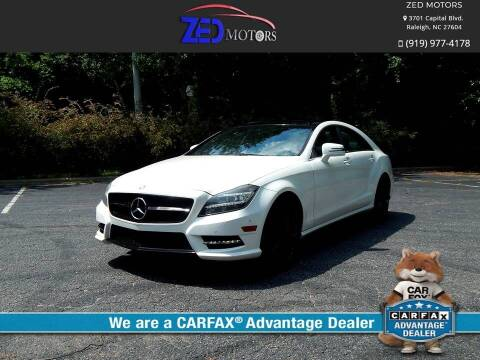 2013 Mercedes-Benz CLS for sale at Zed Motors in Raleigh NC