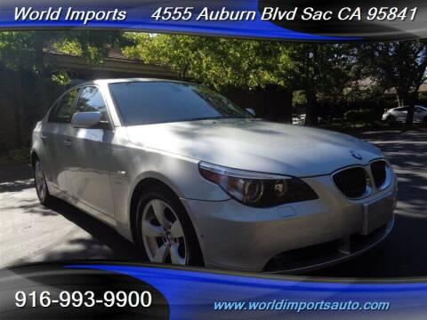 2007 BMW 5 Series for sale at World Imports in Sacramento CA