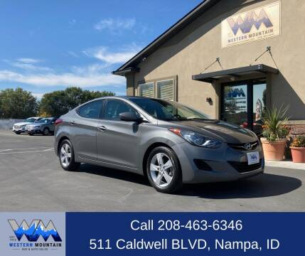 2013 Hyundai Elantra for sale at Western Mountain Bus & Auto Sales in Nampa ID