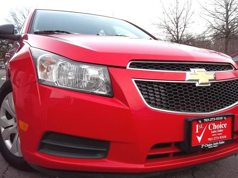 2014 Chevrolet Cruze for sale at 1st Choice Auto Sales in Fairfax VA