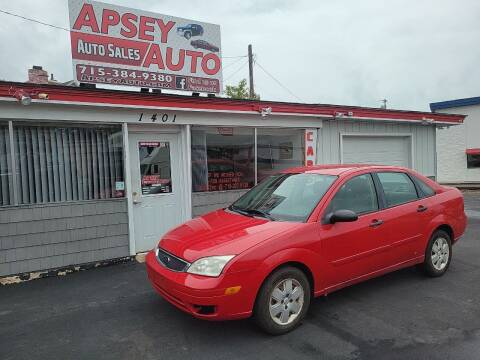 2007 Ford Focus for sale at Apsey Auto in Marshfield WI