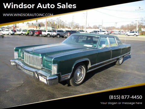 1976 Lincoln Continental for sale at Windsor Auto Sales in Loves Park IL