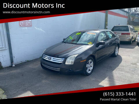 2007 Ford Fusion for sale at Discount Motors Inc in Nashville TN