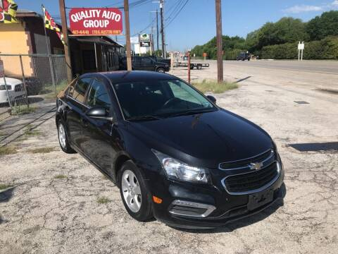 2015 Chevrolet Cruze for sale at Quality Auto Group in San Antonio TX