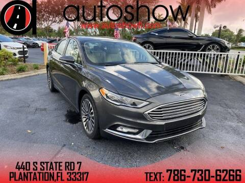 2018 Ford Fusion for sale at AUTOSHOW SALES & SERVICE in Plantation FL