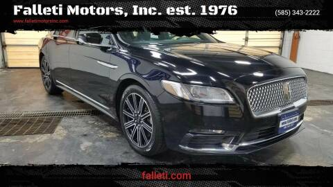 2017 Lincoln Continental for sale at Falleti Motors, Inc.  est. 1976 in Batavia NY