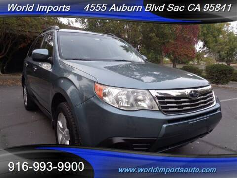 2010 Subaru Forester for sale at World Imports in Sacramento CA