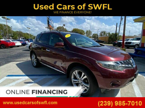 2009 Nissan Murano for sale at Used Cars of SWFL in Fort Myers FL
