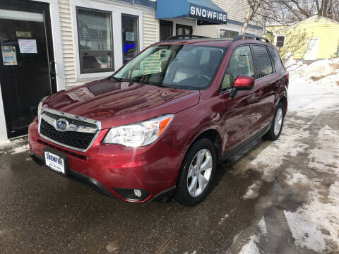 2015 Subaru Forester for sale at Snowfire Auto in Waterbury VT