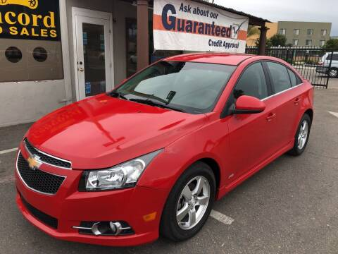 2012 Chevrolet Cruze for sale at Concord Auto Sales in El Cajon CA