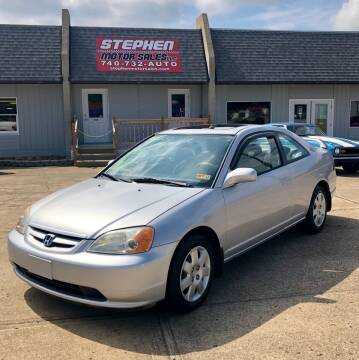 2001 Honda Civic for sale at Stephen Motor Sales LLC in Caldwell OH