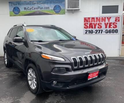 2015 Jeep Cherokee for sale at Manny G Motors in San Antonio TX