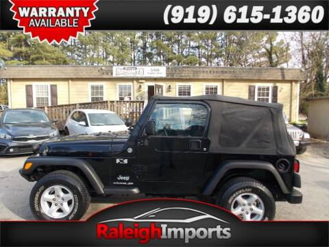 2005 Jeep Wrangler for sale at Raleigh Imports in Raleigh NC