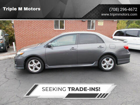 2013 Toyota Corolla for sale at Triple M Motors in Saint John IN
