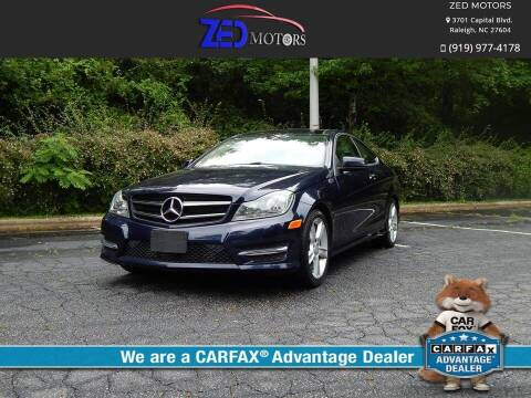 2015 Mercedes-Benz C-Class for sale at Zed Motors in Raleigh NC