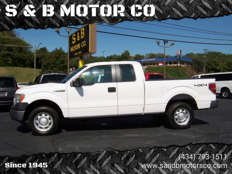 2013 Ford F-150 for sale at S & B MOTOR CO in Danville VA