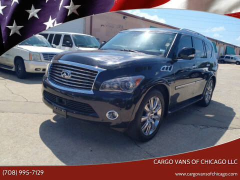 2014 Infiniti QX80 for sale at Cargo Vans of Chicago LLC in Mokena IL