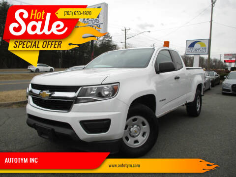 2016 Chevrolet Colorado for sale at AUTOTYM INC in Fredericksburg VA