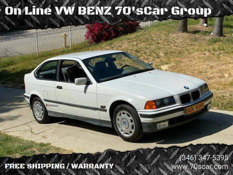1995 BMW 3 Series for sale at On Line VW BENZ 70'sCar Group in Warehouse CA