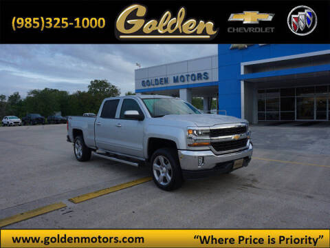 2018 Chevrolet Silverado 1500 for sale at GOLDEN MOTORS in Cut Off LA