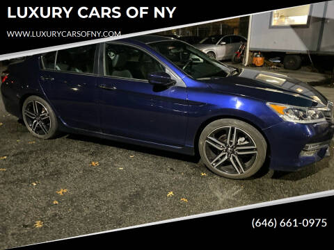 2017 Honda Accord for sale at LUXURY CARS OF NY in Queens NY