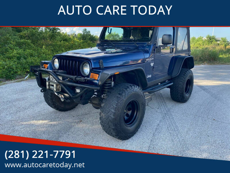 2005 Jeep Wrangler for sale at AUTO CARE TODAY in Spring TX