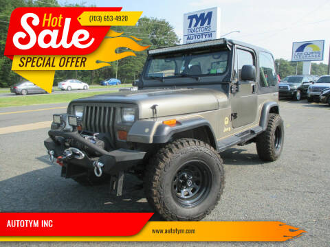 1990 Jeep Wrangler for sale at AUTOTYM INC in Fredericksburg VA
