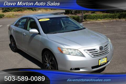 2007 Toyota Camry for sale at Dave Morton Auto Sales in Salem OR