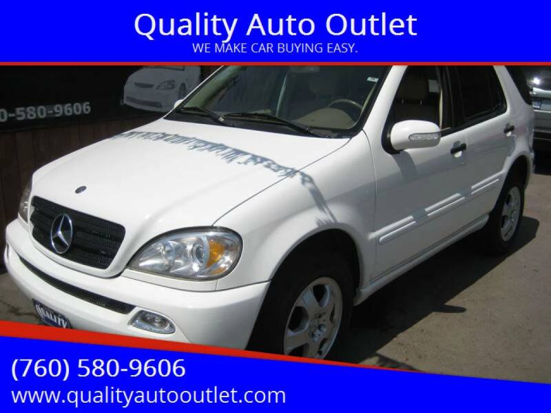 2002 Mercedes-Benz M-Class for sale at Quality Auto Outlet in Vista CA
