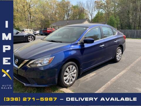 2016 Nissan Sentra for sale at Impex Auto Sales in Greensboro NC