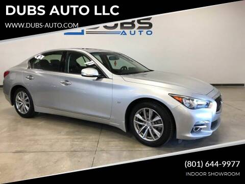 2015 Infiniti Q50 for sale at DUBS AUTO LLC in Clearfield UT