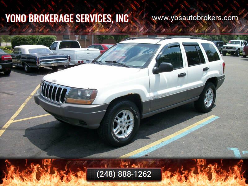 2002 Jeep Grand Cherokee for sale at Yono Brokerage Services, INC in Farmington MI
