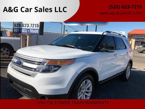 2015 Ford Explorer for sale at A&G Car Sales  LLC in Tucson AZ