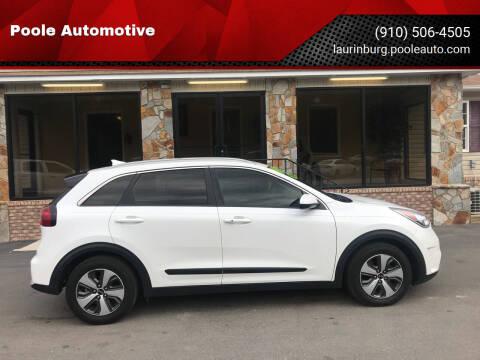 2017 Kia Niro for sale at Poole Automotive in Laurinburg NC